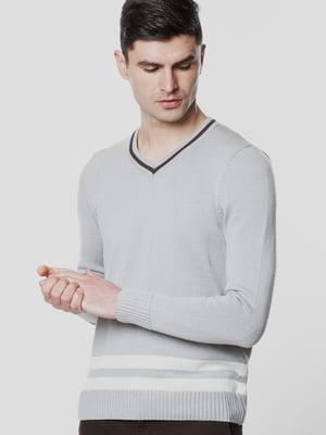 Пуловер светло-серый | 5678916