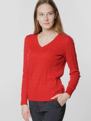 Пуловер красный | 5678932