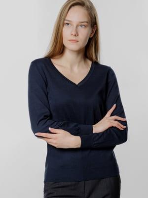 Пуловер темно-синий | 5678933
