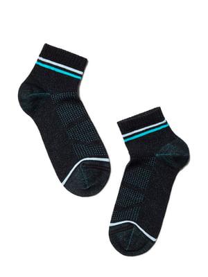 Носки спортивные черные с логотипом | 5673054