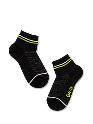 Носки спортивные черные с логотипом | 5673055