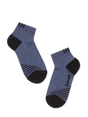 Носки спортивные сине-черные в полоску | 5673057