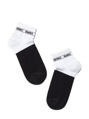 Носки спортивные комбинированного цвета с логотипом | 5673058