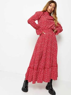 Сукня червоного кольору в горошок | 5679061