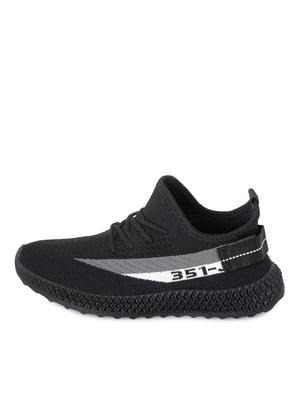 Кроссовки черно-бежевого цвета | 5679097