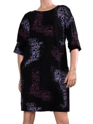 Платье черное в принт | 5679396