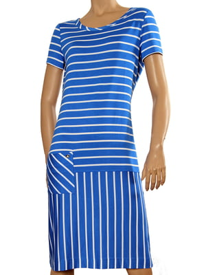 Сукня синя у смужку | 5679397