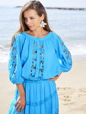 Пляжная блуза голубая | 5679407