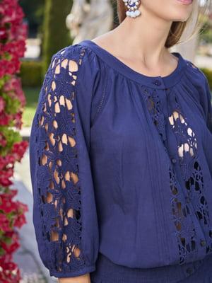 Пляжная блуза синяя | 5679408