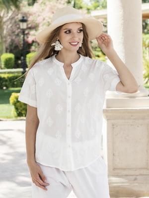 Пляжная блуза белая | 5679410