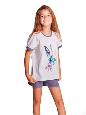 Пижама: футболка и шорты   5679489