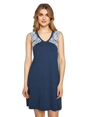 Рубашка ночная синяя | 5679750