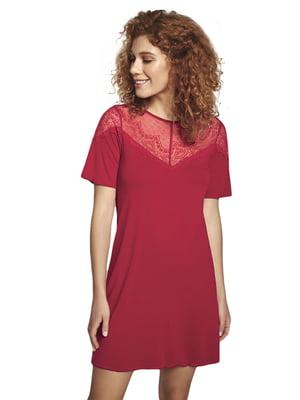 Рубашка ночная красного цвета | 5679757