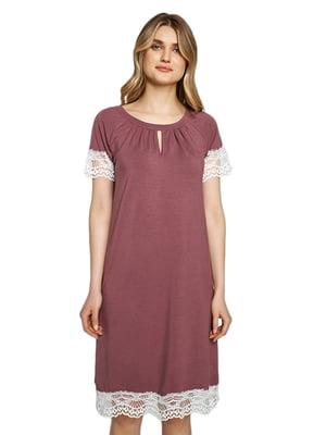 Рубашка ночная кофейного цвета | 5679761
