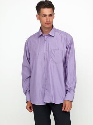 Сорочка бузкового кольору в смужку | 5679918
