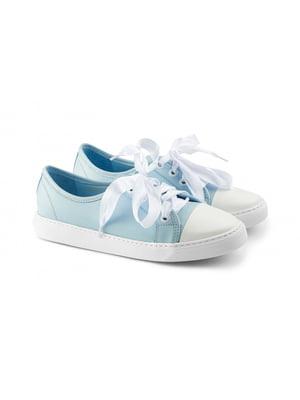 Кеды бело-голубого цвета | 5681955