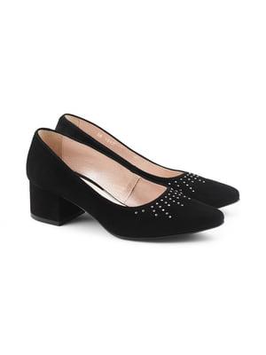 Туфли черные с декором | 5681957