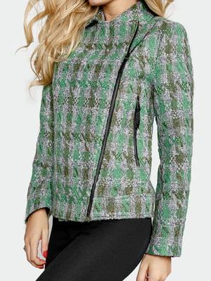 Куртка зелена в клітинку | 5680967
