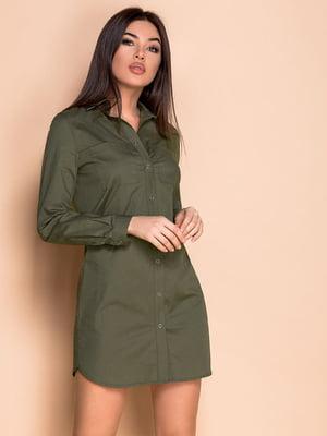 Платье цвета хаки | 5681129