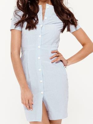 Платье белое в полоску | 5681159