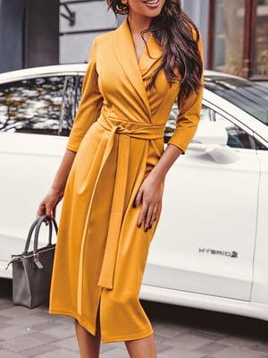 Платье горчичного цвета | 5681226