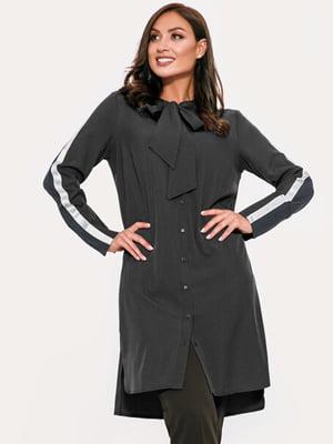 Платье черное с полосками | 5681287