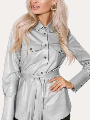 Рубашка серебристого цвета | 5681290