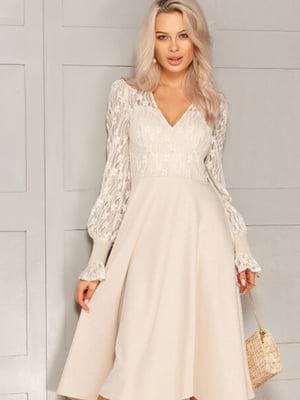 Платье бежевое | 5681383