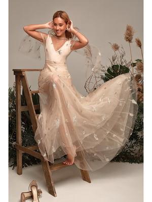 Платье бежевое | 5681436