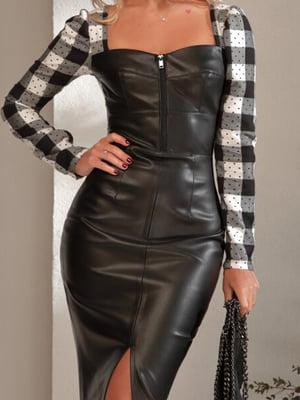 Платье черное в клетку | 5681449
