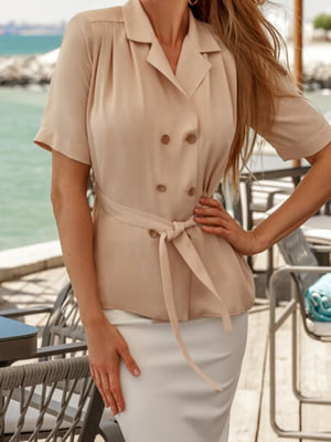 Блуза бежевая | 5681536