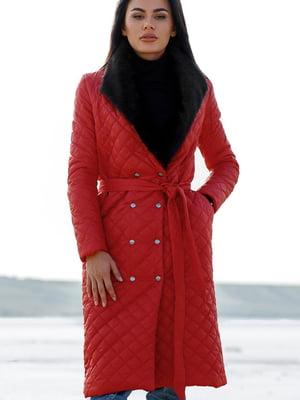 Пальто красное   5681691