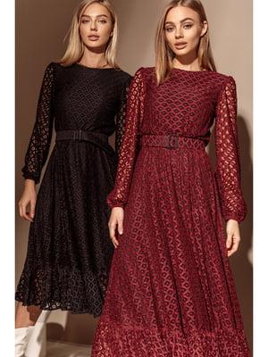 Платье бордовое | 5681861