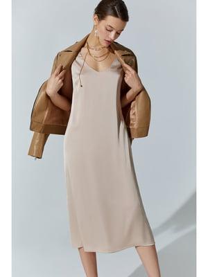 Платье бежевое | 5681891