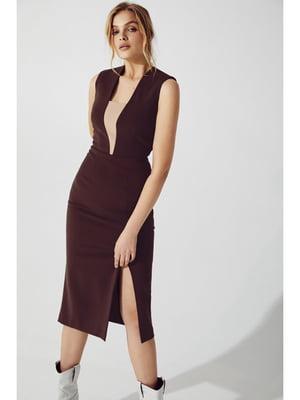 Платье шоколадного цвета | 5681896
