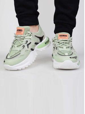 Кросівки зеленого кольору | 5645636