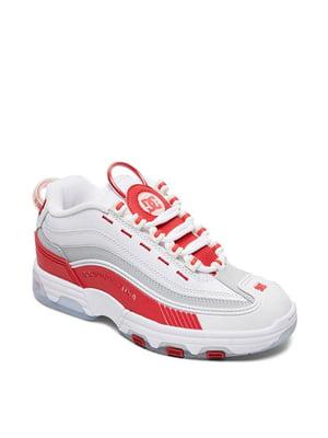 Кроссовки бело-красного цвета | 5678213