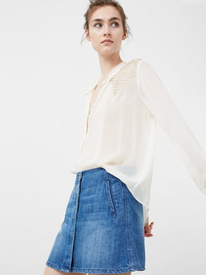Блуза белая с вышивкой | 5233836