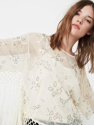 Блуза біла з малюнком | 5233928