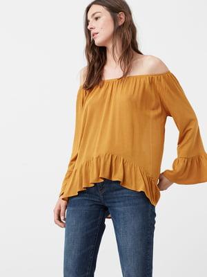 Блуза горчичного цвета | 5234201