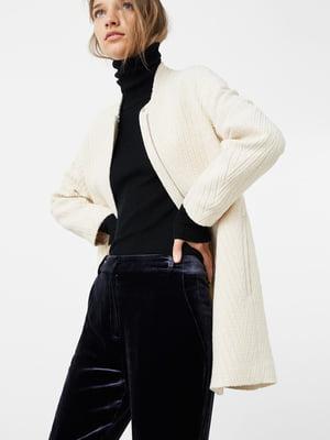 Пальто кольору екрю | 5234251