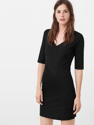 Платье черное в полоску | 5234261