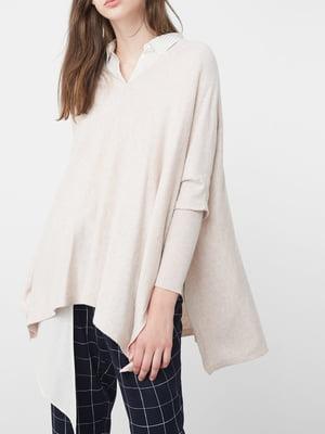 Пуловер серо-бежевый | 5234692