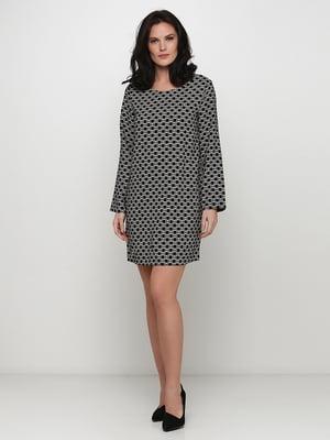 Платье черное с принтом | 5668953