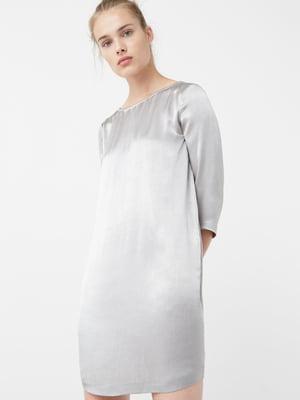 Платье серебристое | 5669137