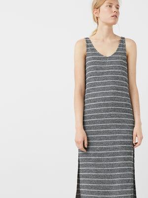 Платье серое в полоску | 5669189