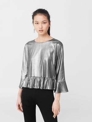 Блуза серебристая   5669297