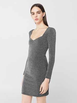 Платье серебристое | 5669420