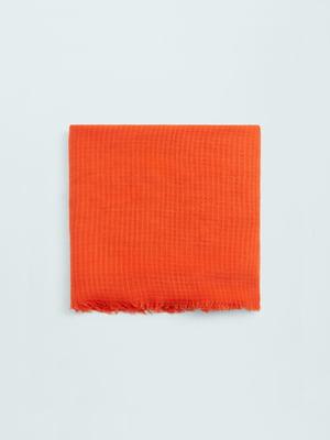 Шарф морковного цвета | 5669106