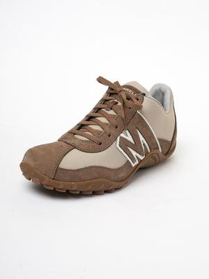 Кросівки коричневого кольору з логотипом | 5663361